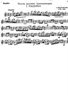 Мазурка для флейты и фортепиано: Сольная партия by Алексей Верстовский
