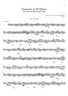 Концерт для виолы д'амур, лютни  и струнных ре минор, RV 540: Партия бассо континуо by Антонио Вивальди