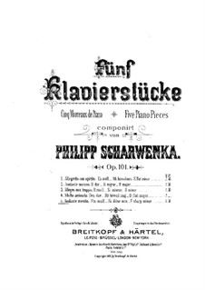Пять пьес для фортепиано, Op.101: No.5 Andante mesto by Филипп Шарвенка