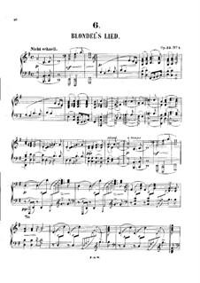 Романсы и баллады, Op.53: Аранжировка для фортепиано by Роберт Шуман