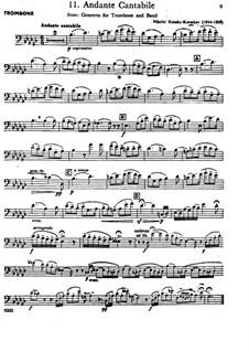 Концерт для тромбона с оркестром си-бемоль мажор: Часть II – Партия солирующего тромбона by Николай Римский-Корсаков