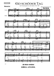 Ein schöner Tag (Amazing grace): For male choir, Op.350 by folklore