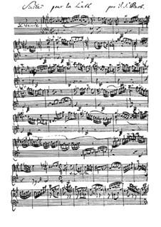 Сюита для лютни No.3 соль минор, BWV 995: Партитура by Иоганн Себастьян Бах