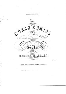 The Ocean Burial: The Ocean Burial by George Nelson Allen