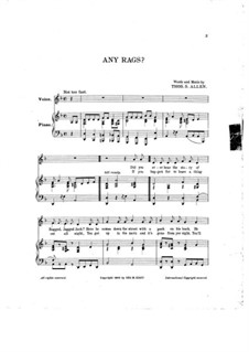 Any Rags: Any Rags by Thos. S. Allen