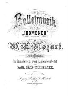 Балетная музыка: Балетная музыка by Вольфганг Амадей Моцарт