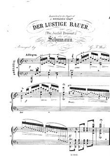 No.10 Веселый крестьянин: Для фортепиано by Роберт Шуман