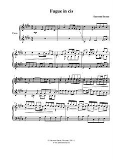 Фуга до-диез минор, Op.1: Для фортепиано by Jennie Moz-Art