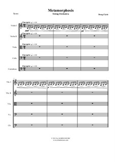 Metamorphosis: String orchestra, AMSM30 by Doug Clyde