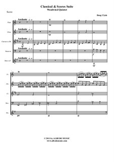 Classical and Scores Suite: Woodwind quintet, AMSM35 by Doug Clyde