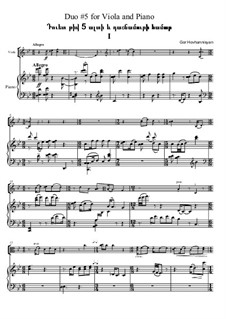 Six Duos for Viola and Piano, Op.1c: Duo No.5 by Gor Hovhannisyan