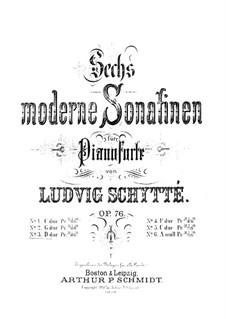 Шесть современных сонатин, Op.76: Сонатина No.3 by Людвиг Шитте