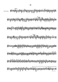 Quick Suite, Op.18: No.2 Minuet, for solo violin by Dov Rosenschein