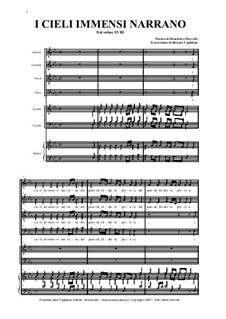 Земля и небо нам вещают: For choir, two trumpets and organ by Бенедетто Марчелло