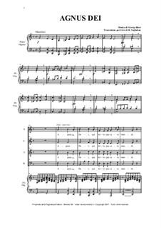 Agnus Dei: Per coro SATB e pianoforte by Жорж Бизе