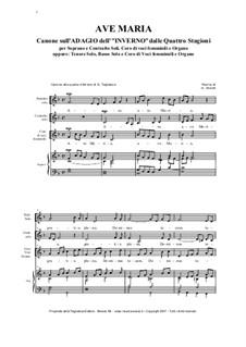 Ave Maria - Canon on the Movement II from 'L'inverno': Ave Maria - Canon on the Movement II from 'L'inverno' by Антонио Вивальди, Renato Tagliabue