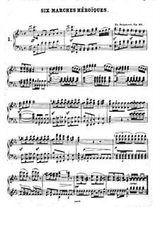 Шесть больших маршей, D.819 Op.40: Для фортепиано by Франц Шуберт