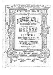 Фрагменты: Увертюра, Акт I, для фортепиано by Вольфганг Амадей Моцарт