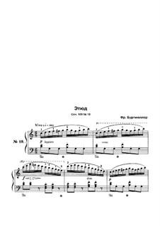 Этюд No.10: Для фортепиано by Иоганн Фридрих Бургмюллер
