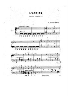 L'ardita or Magnetic Waltz: Клавир с вокальной партией by Луиджи Ардити