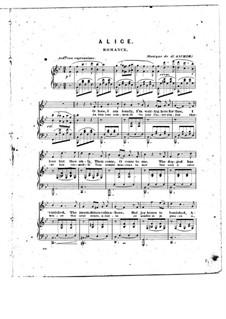 Alice, Where Art Thou: Клавир с вокальной партией (English and french texts) by Йозеф Ашер