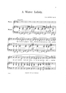 A Winter Lullaby, Op.51: A Winter Lullaby by Reginald De Koven
