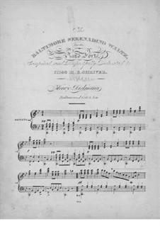 The Baltimore Serenading Waltz : The Baltimore Serenading Waltz by Henry Dielman