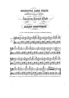 Mahopac Lake Waltz: Mahopac Lake Waltz by Allen Dodworth