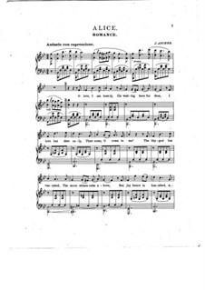 Alice, Where Art Thou: Клавир с вокальной партией (English text) by Йозеф Ашер