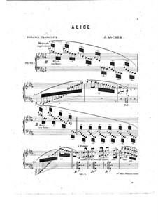 Alice, Where Art Thou: Аранжировка для фортепиано by Йозеф Ашер