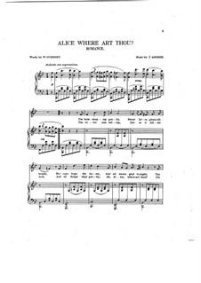 Alice, Where Art Thou: Клавир с вокальной партией by Йозеф Ашер