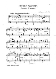 Cupid's Wooing. Gavotte d'Amour for Piano, Op.702: Cupid's Wooing. Gavotte d'Amour for Piano by Ганс Энгельман