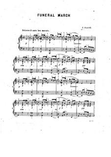 Похоронный марш для фортепиано: Похоронный марш для фортепиано by Friedrich Haase