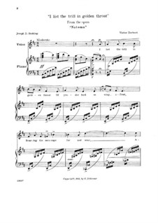 Natoma: I list the trill in golden throat, for mezzo-soprano and piano by Виктор Герберт