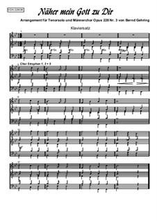 Näher mein Gott zu Dir (Klaviersatz), Op.228 Nr.3: Näher mein Gott zu Dir (Klaviersatz) by Bernd Gehring