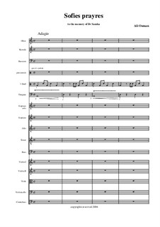 Sofie prayers for mixed choir, chamber orchestra, nay and 3 Duffs: Sofie prayers for mixed choir, chamber orchestra, nay and 3 Duffs by Ali Osman