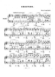 Lieder von Franz Schubert, Op.90: Greeting by Густав Ланге