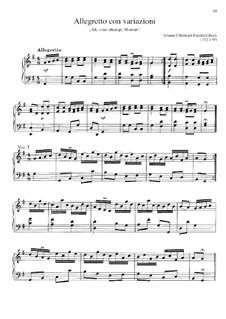 Аллегретто с вариациями, BR A 45 Wf XII:2: Аллегретто с вариациями by Иоганн Христоф Фридерик Бах