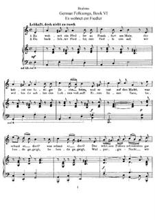 Немецкие народные песни, WoO 33: Том II, No.36-42 by Иоганнес Брамс