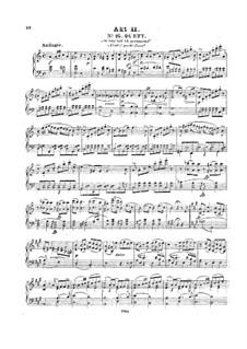 Вся опера: No.16-24, для фортепиано by Вольфганг Амадей Моцарт