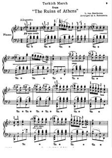 Турецкий марш: Для фортепиано (версия А. Рубинштейна) by Людвиг ван Бетховен