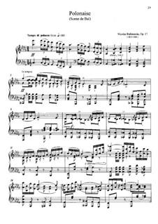 Полонез, Op.17: Полонез by Nikolai Grigoryevich Rubinstein