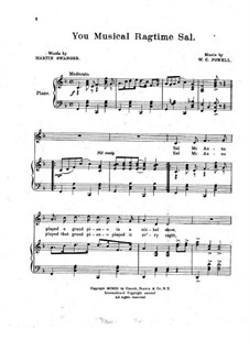 You Musical Ragtime Sal: You Musical Ragtime Sal by William C. Polla