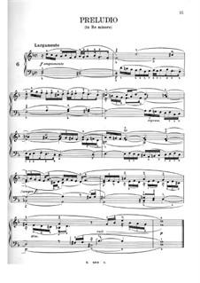 Двенадцать маленьких прелюдий: No.6-12 by Иоганн Себастьян Бах