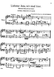 Liebster Jesu, wir sind hier (Vorspiel und Choral): Für Klavier by Иоганн Себастьян Бах