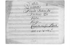 Квартет для флейты (или скрипки) и струнных до мажор: Квартет для флейты (или скрипки) и струнных до мажор by Иоганн Христиан Бах