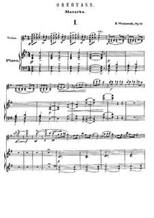 Две характерные мазурки, Op.19: Для скрипки и фортепиано by Генрик Венявский