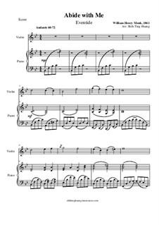 Пребудь со мной: Для фортепиано и скрипки by Уильям Генри Монк