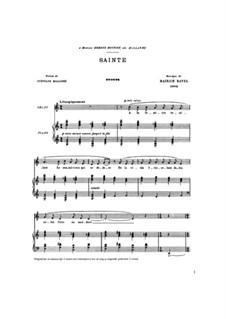 Песни для голоса и фортепиано: Песни для голоса и фортепиано by Морис Равель