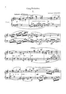 Пять прелюдий: Пять прелюдий by Николай Андреевич Рославец